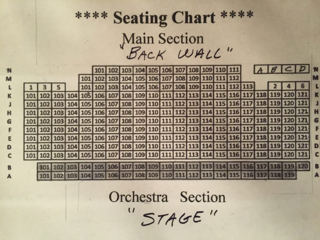 Seating Chart graphic